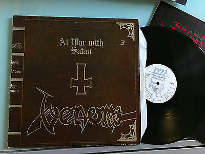 LP  Venom-At war with Satan LP,Neat UK 1984,textured cover,G/F,text insert