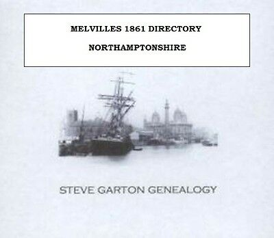 Melvilles 1861 Directory Of Northamptonshire - Genealogy Cd