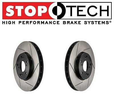 StopTech SLOTTED Brake Rotors FRONT Right Left 02-06 Acura RSX Type-S 126.40057S