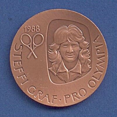 Medaille Olympische Spiele Seoul 1988 Steffi Graf pro Olympia Ø 35 mm A12/153