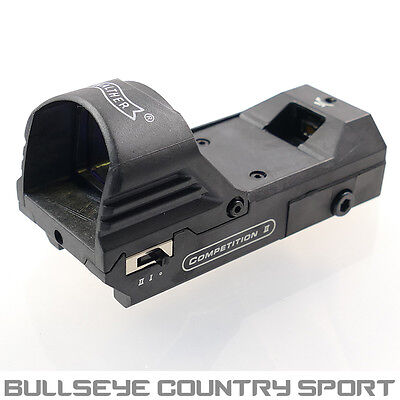 Walther Competition II Red Dot Scope Airsoft Hunting 20mm Rails Black 1035