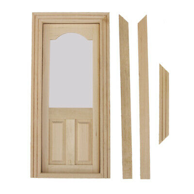 1/12 Arched Top 2 Panel Interior Door Dolls House Miniature Fixture Fittings