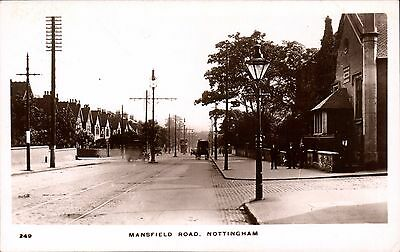 Nottingham. Mansfield Road # 249 by W.H.S.& S.N. Distant Tram.
