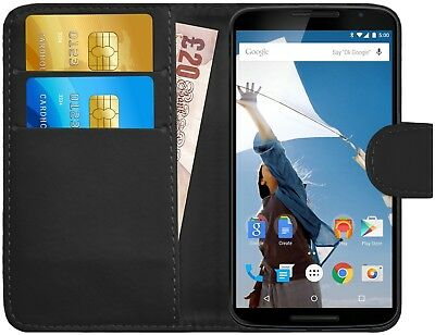 G-Shield® Luxury Leather Flip Wallet Slim Case Cover For Motorola Google Nexus 6