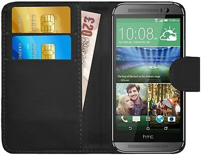 G-Shield® Premium Luxury Leather Magnetic Flip Wallet Case Cover For HTC One M8