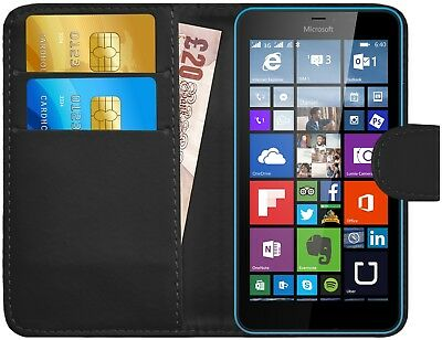 G-Shield® Luxury Leather Magnetic Flip Wallet Case Cover For Microsoft Lumia 640