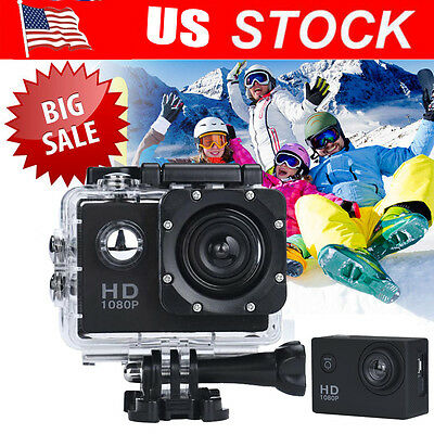 New HD 1080P SJ4000 Waterproof Sports Cam Action Full Video DVR Camera Black US