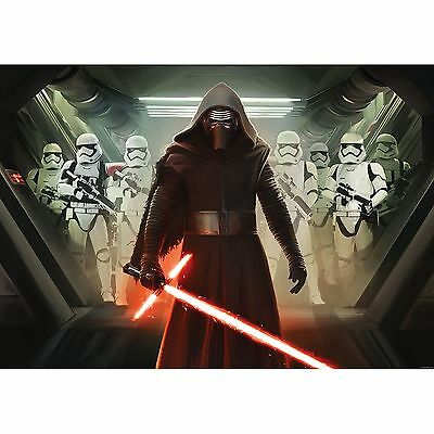 STAR WARS WALLPAPER WALL MURAL 254 x 184cm KYLO REN ROOM DECOR