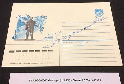 £££ Espace / Space - cover signed autograph Beregovoy - soviet