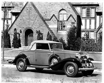 1932 Cadillac V8 Convertible ORIGINAL Factory Photo oae0656