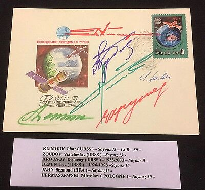 £££ Espace / Space - cover signed 6 autographs - Really Rare