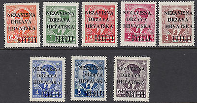 CROATIA : 1941 Opts on Yugoslavia set SG 1-8 MNH