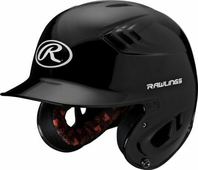 Rawlings R16 R16J-B Junior (6 3/8 - 7 1/8) Metallic Black Batting Helmet