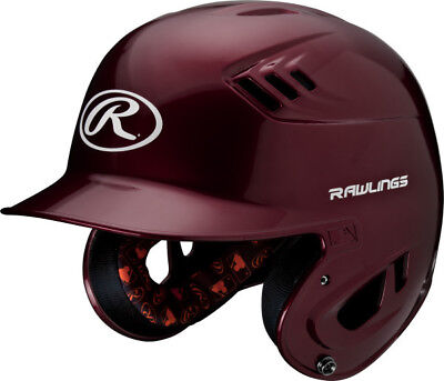 Rawlings R16 R16J-MA Junior (6 3/8 - 7 1/8) Metallic Maroon Batting Helmet