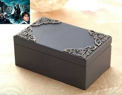 Black Vintage Rectangle Music Box : Harry Potter Hedwig's Theme