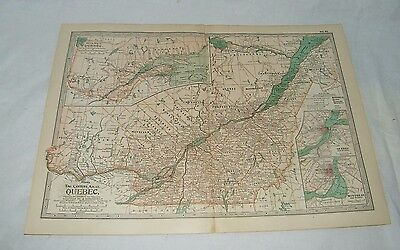 1906 quebec canada map montreal montcalm railroad routes original vintage canada quebec the map century dictionary and cyclopedia 1906 19679 gumiabroncs Image collections