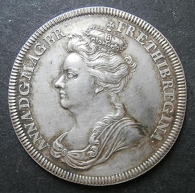 Silver medallion - Anne 1702 accession silver by Croker Eimer388 about aEF 35mm