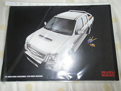 Isuzu Rodeo Accessories range brochure c2000's