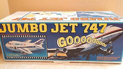 """Vintage Cheng Ching Battery Operated Jumbo Jet 747 Microchip Programmed 16"""" Long"""
