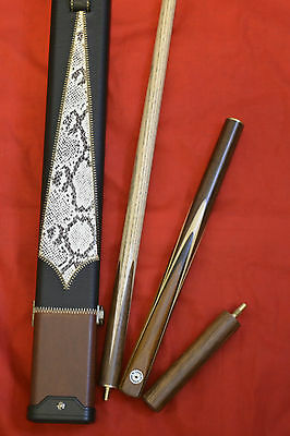 3/4 Handmade Ash Snooker / Pool Cue + Case Set All Included