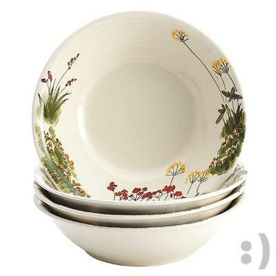 Paula Deen Dinnerware Southern Rooster 4-Piece Stoneware Soup and Pasta Bowl Set