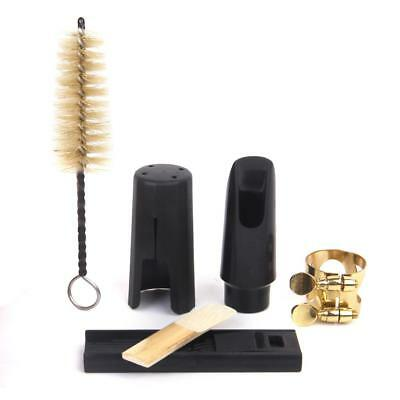 Set of Soprano Saxophone Mouthpiece With Ligature Cap + Cleaning Kit for Sax