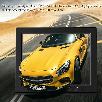 """NEW 8"""" inch TFT LCD HD Monitor Screen Audio Video for PC CCTV Security DVD Y6F3"""