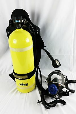 Drager TC-3ALM 4500 PSI Air Tank,  Respirator Mask,  New Harness,  Mount