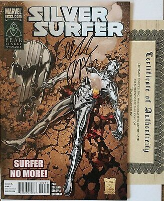 Silver Surfer 2 NM Signed Greg Pak #ed Limited Only 99 Dynamic Forces COA HTF