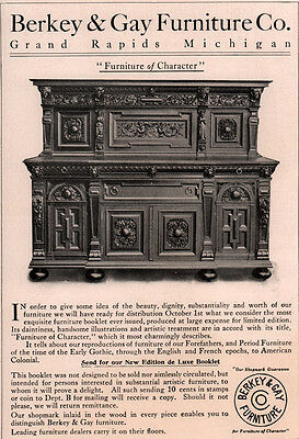 Early Berkey And Gay Furniture Co Ad Buffet