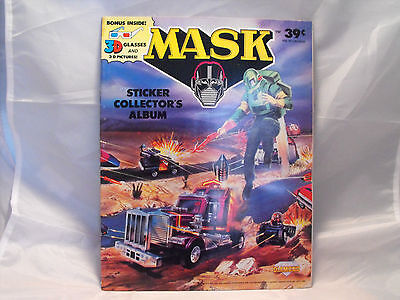 M.a.s.k. Sticker Album Produced In 1987 By Diamond, Complete With 3-D Glasses