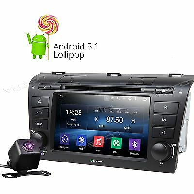 """Camera 7"""" Android 5.1 Car DVD Player Stereo GPS NAVIGATION WIFI 3G for Mazda 3 A"""