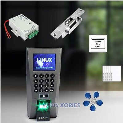Fingerprint And RFID Card Access Control System With Strike Lock+ Software