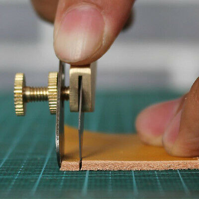 Pro Copper Leather Craft Line Strip Trimming Positioning Cut Cutter Tool