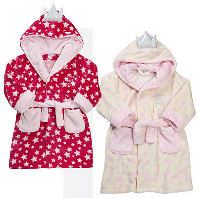 MiniKidz Girls Fairy Dust Star Dressing Gown