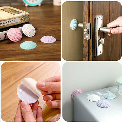 2PCS Handle Door Lock Protection Protective Rubber Pad Wall Mute Stick Pad