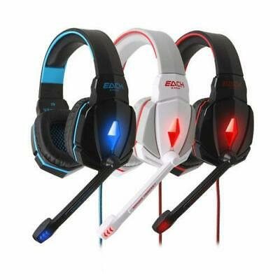 EACH G4000 Gaming Headset LED USB+ 3.5mm Stereo Headphone with Mic for PC Laptop