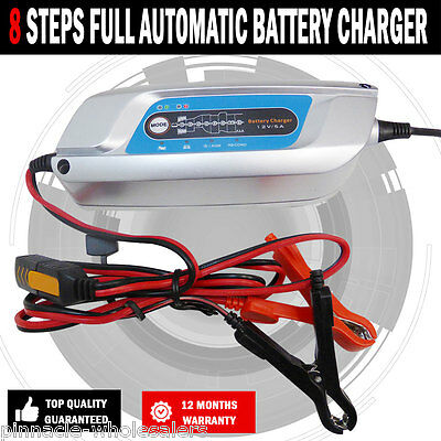 NEW Battery Charger Fully Automatic 5AMP 8 Stage Suit Up 160AH Lead,AGM,GEL