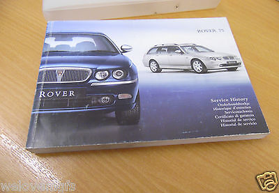 Rover 75 MK1 Owners Handbook Manual Service History Book And Plastic Wallet