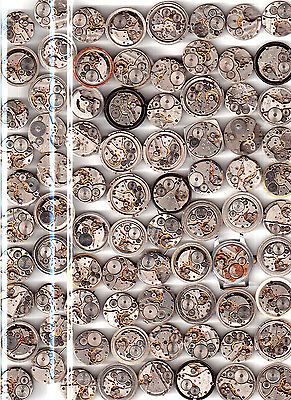 Lot of 80 MEN WATCHES  Vintage Movements Steampunk Art  or for parts