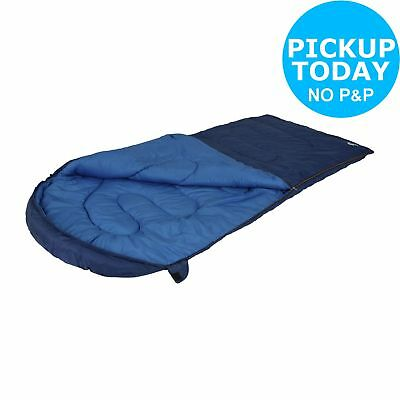 Trespass 350GSM Single Extra Wide Cowl Sleeping Bag - Blue. From Argos on ebay