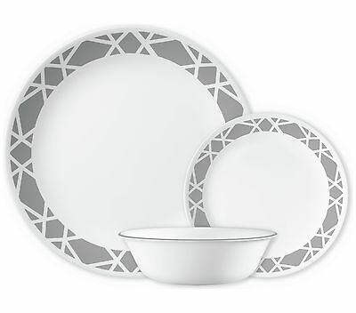 Corelle Modena 12 Piece Dinner Set - Grey. From the Official Argos Shop on ebay