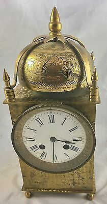 A Very Big Antique Brass Lantern Clock French Movement