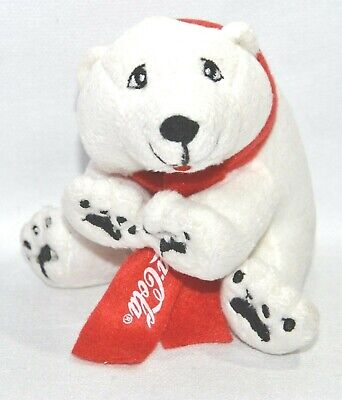 COCA-COLA Peluche ours blanc polaire Noël assis (code 32261) NEUF