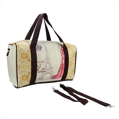 NorthLight 16 in. Vintage-Style Eiffel Tower French Theme Travel Bag
