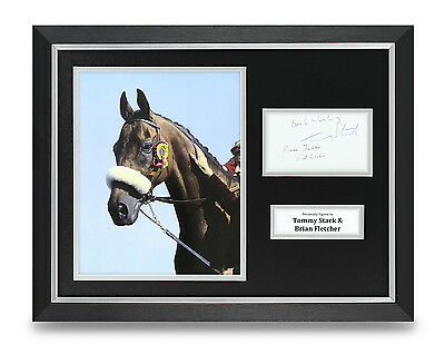 Tommy Stack & Brian Fletcher Signed Photo Framed 16x12 Red Rum Autograph Display