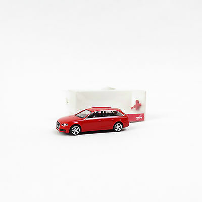 Herpa Modell - Audi A4 Avant in rot mit OVP - 1:87