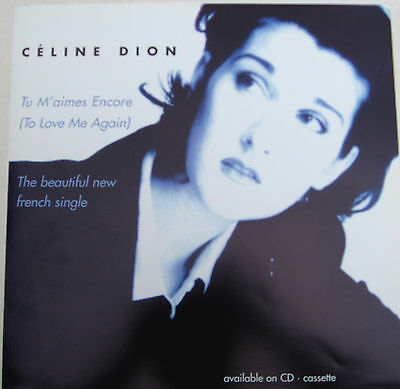 """CELINE DION Display Card Falling Into You UK PROMO ONLY Rare 12"""" x 12"""" Poster"""