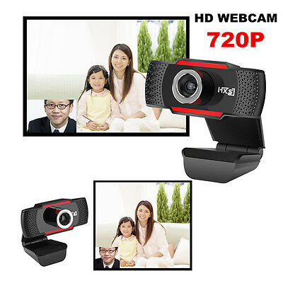 HXSJ HD 720P Mega pixels USB 2.0 Webcam Camera With MIC For Computer PC Laptops