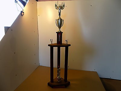 """Vintage Old School BMX / TROPHY / 1983 DOUBLE POINTS TEAM / 39"""" TALL"""